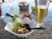 Fresh Ceviche at the beach bar.
