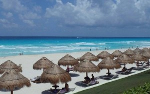 Beachfront at the Paradisus Cancun.