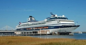 Our Celebrity ship docked in Charleston, SC