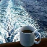 Far out at sea!